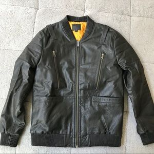 Asos Real Leather Bomber Jacket